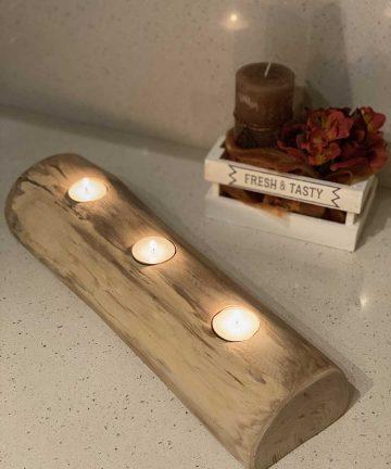 design wood portacandele